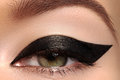Beauty Macro Of Eye With Fashion Liner Make-up Stock Images - 53467714