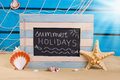 Marine Frame With Text Written On  Blackboard Stock Image - 53479261