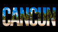 Cancun Text On Black Background Royalty Free Stock Photo - 53481785