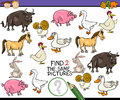 Find Same Picture Game Cartoon Royalty Free Stock Photo - 53510885
