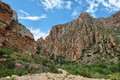 Majestic Rocky Redish Mountains In Swartberg Pass Stock Image - 53513011