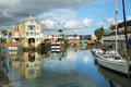 Cute Houses In Knysna Channel Stock Image - 53514011