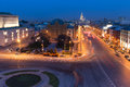 Night View Over Moscow, Russia Royalty Free Stock Image - 53515716