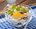 Dessert With Muesli And Fruit Stock Photo - 53519060