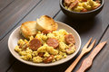 Scrambled Eggs With Chorizo Royalty Free Stock Images - 53527579