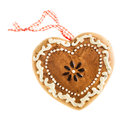 Gingerbread Heart Stock Image - 53528561
