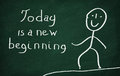 Today Is A New Beginning Royalty Free Stock Photo - 53533465