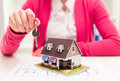 Real Estate Agent With Key Royalty Free Stock Images - 53539459