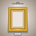 Gold Picture Frame Royalty Free Stock Image - 53541186