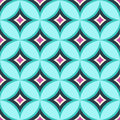 Seamless Diamond Circle Colorful Pattern Stock Image - 53559701