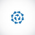 Blue Arrows Flat Icon Logo Royalty Free Stock Photos - 53579358