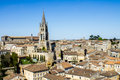 The Bell Tower Of The Monolithic Church In Saint Emilion, Bordea Stock Photo - 53580380