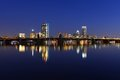 Boston Charles River And Back Bay Skyline At Night Stock Images - 53581294