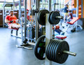 Barbell Plates Holder In Gym Royalty Free Stock Photo - 53633295