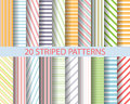 20 Striped Patterns Royalty Free Stock Photography - 53643887