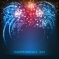 American Independence Day Celebration Background With Fireworks. Royalty Free Stock Photo - 53648625