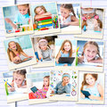 Girl Busy With Her Studies And Drawing Royalty Free Stock Images - 53670699