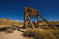 Old Gold Mine Machines And Tools Abandoned In Bodie Ghost Town Stock Image - 53671261