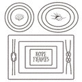 Rope Frames, Borders, Knots. Hand Drawn Decorative Elements Stock Image - 53675791
