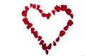 Heart Made Of Red Rose Petals Stock Photography - 53676932