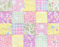Patchwork Quilt , Basic Pattern Square Royalty Free Stock Photography - 53686057