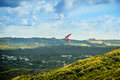Hang Glider Over The Valley Stock Photo - 53694370