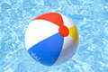 Beach Ball Floating In The Pool Royalty Free Stock Image - 5377036