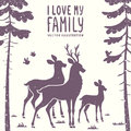 Deer Family Stock Photos - 53712033