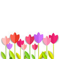 Coloring 3d Tulips Isolated On White. Vector EPS 10. Royalty Free Stock Photo - 53712095