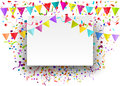 Vector Background Of Falling Tiny Confetti Pieces And Colored Pe Stock Image - 53712121