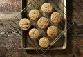 Chocolate Chip Cookies From The Oven Royalty Free Stock Photos - 53715108