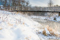 Winter River And Bridge Royalty Free Stock Photography - 53719437