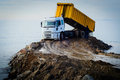 Dump Truck On Construction Site Royalty Free Stock Photo - 53721915