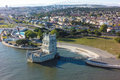 Aerial View Of Belem Tower - Torre De Belem  In Lisbon, Portugal Royalty Free Stock Photo - 53722765