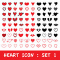 Love Heart Icon Set. Vector Eps10. Royalty Free Stock Photography - 53739127