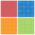 Four Abstract Seamless Patterns Royalty Free Stock Photography - 53750127