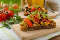 Eat Clean - Vegetarian Toast With Vegetable Royalty Free Stock Image - 53770246