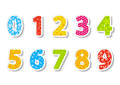 Set Of Color Numbers Royalty Free Stock Photography - 53785107
