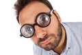 Man With A Surprised Expression And Thick Glasses Royalty Free Stock Photo - 53788415