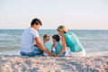Family Having Fun On Tropical Beach Royalty Free Stock Image - 53793996