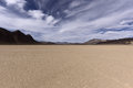 Dry Lake Bed In Desert With Cracked Mud On A Lake Floor Stock Image - 53794481