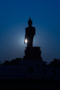 Standing Big Buddha Statue Silhouette Royalty Free Stock Photography - 53796927