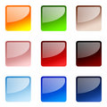 Set Of Square Website Buttons Royalty Free Stock Photo - 5385895