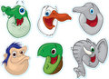 Smiling Face Fridge Magnet/Stickers 4 (Animals) Stock Photo - 5387830