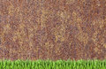Rusty Wall And Green Grass Background Royalty Free Stock Photo - 53819295