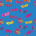 Seamless Pattern With Carnival Masks Stock Photography - 53843962
