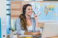 Pretty Travel Agent Speaking To Customer Stock Photography - 53858352