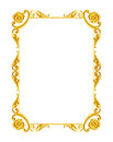 Ornament Elements, Vintage Gold Frame Floral Designs Stock Photography - 53858922