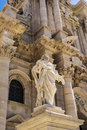 Statue Of Saint Paul At The Siracusa Cathedral, Sicily, Italy Royalty Free Stock Photography - 53859847