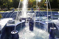 Blue Fountain In Subotica Royalty Free Stock Photos - 53863208